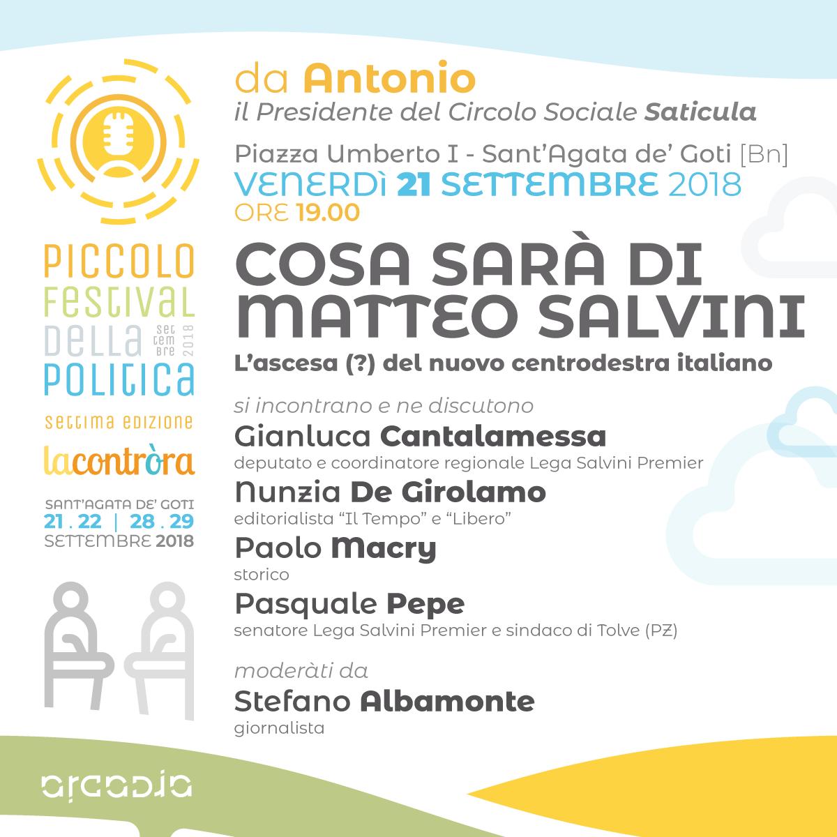 Parte domani sera la settima edizione del Piccolo Festival della Politica
